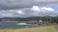 Australia cloudy coastal view from Kiama Stock Footage