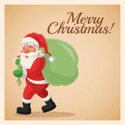 Santa cartoon. Merry Christmas design. Vector graphic Stock Illustration