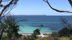 Australia Hyams Beach at Jervis Bay colorful water Stock Footage