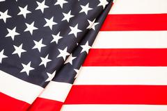 Symbol of American independence. Red white flag USA Stock Photos