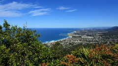 Australia Illawarra Escarpment view of Wollongong Stock Footage