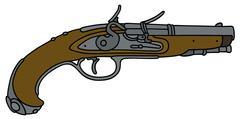 Historical matchlock pistol Piirros