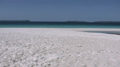 Australia white sand at Hyams Beach Jervis Bay Stock Footage