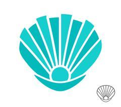 Vector sea shell logo or icon Stock Illustration