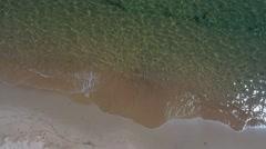 Aerial shot of calm ocean water on beach Stock Footage