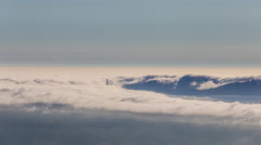 Aerial Timelapse of The Fog Entering The Bay Area by The Golden Gate Bridge Stock Footage
