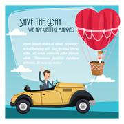 Save the date wedding icon. Vector graphic Stock Illustration