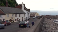 Minhead Old Town Harbour Stock Footage