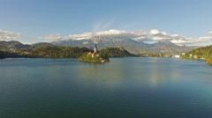 Beautiful Bled Lake Stock Footage