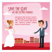 save the date wedding icon. Vector graphic - stock illustration