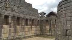 Temple of the Sun at Machu Picchu Stock Footage