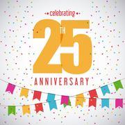 25 Year. Celebrating Anniversary. Vector graphic Stock Illustration