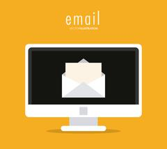 envelope and computer icon. Email design. Vector graphic - stock illustration