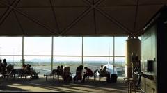 Beautiful view of Passenger Boarding Area in Hong Kong International Airport-Dan Stock Footage