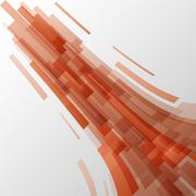 Abstract orange elements technology background Stock Illustration