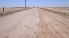 Fly Drive Dirt Road Stock Footage