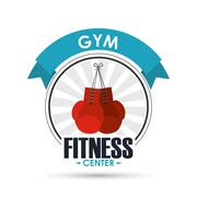Boxing gloves icon. Fitness design. Vector graphic Stock Illustration