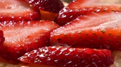 Strawberry Waffles Stock Footage