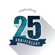 25 Year. Celebrating Anniversary. Vector graphic - stock illustration