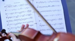 A musician plays the violin Stock Footage