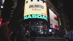 NASDAQ TIME SQUARE - stock footage