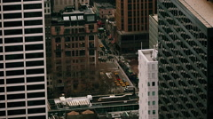 NYC ROOFTOP TRAFFIC Stock Footage