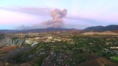Aerial View of Sands fire - Santa Clarita, CA Stock Footage
