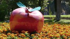 Red Apple Almaty 4k Stock Footage