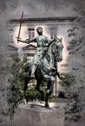 Satue of Jeanne d'Arc, Reims - stock illustration