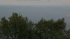 Beautiful Cape Fiolent. Heraclean peninsula on the southwest coast of Crimea Stock Footage