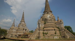 Wat Phra Si Sanphet temple in Ayutthaya Historical Park, Thailand Stock Footage