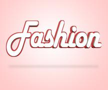 Fashion Word Representing Fashionable Clothing And Vogue - stock illustration