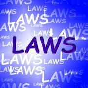 Law Words Showing Bylaws Legal And Ruling Stock Illustration