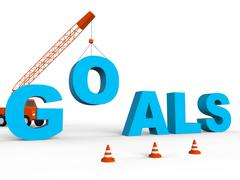 Build Goals Represents Improvement Aspire And Wishes 3d Rendering - stock illustration