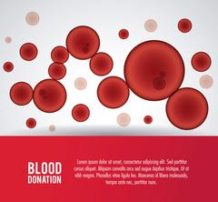 globules blood donation icon. Vector graphic - stock illustration