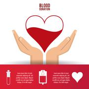 Heart arm blood donation icon. Vector graphic Stock Illustration