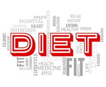 Diet Words Showing Lose Weight And Slimmer Stock Illustration