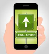 Legal Advice Online Meaning Mobile Phone And Instructions Stock Illustration