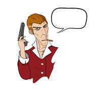 Mafia With Text Stock Illustration