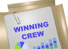 Winning Crew concept Stock Illustration