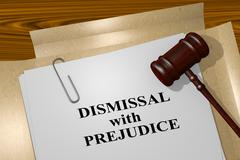 Dismissal with Prejudice - legal concept Stock Illustration