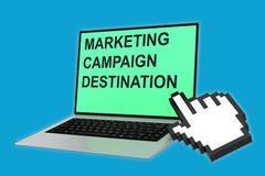 Marketing Campaign Destination concept Stock Illustration