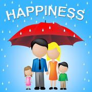 Family Happiness Showing Relatives Families And Joy Stock Illustration