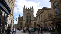 Bath Abbey - establishing shot Stock Footage
