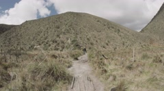 Trekking on the moors Stock Footage
