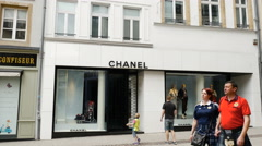 Chanel luxury store Stock Footage