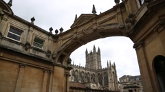 Bath Abbey - best establishing shot Stock Footage