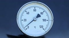 Temperature meter on a barbecue from 0 to maximum 4K - stock footage