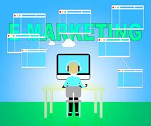 Emarketing Online Showing Web Site And Www Stock Illustration