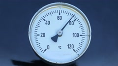 Temperature meter on a barbecue from 0 to maximum 4K Stock Footage